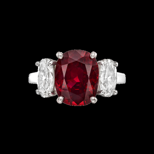 25 Carat Ruby and Diamond Ring