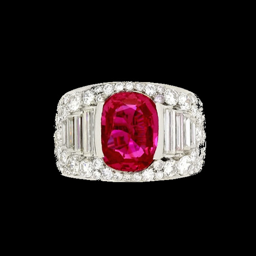 27.05 Carat Ruby and Diamond Ring