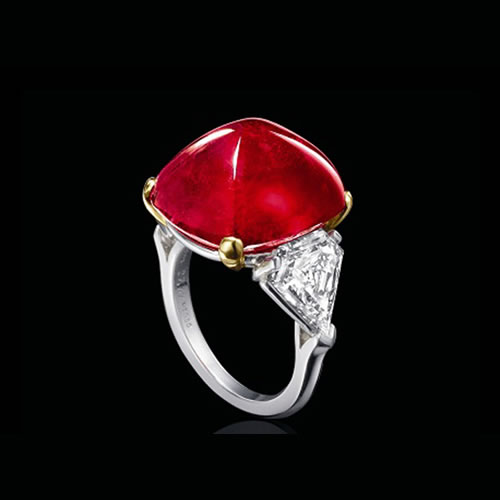 27.67 Crat Ruby and Diamond Ring