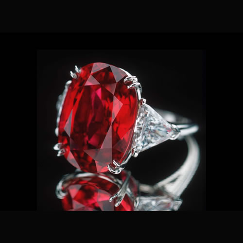 32.05 Carat Ruby and Diamond Ring