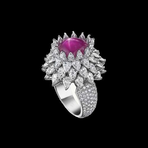 "Ruby and Diamond Ring ""Harry Winston"""